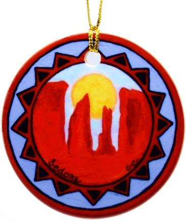CR Sunrise Porcelain ornament